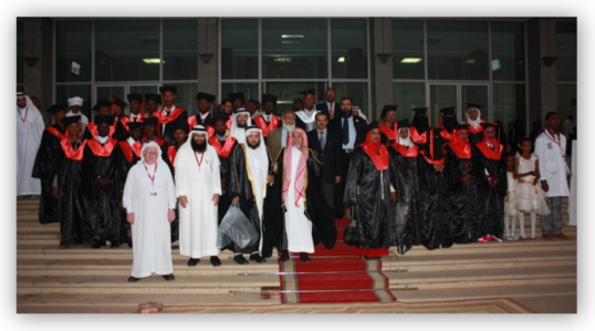 Graduates with the Guest of Honor
